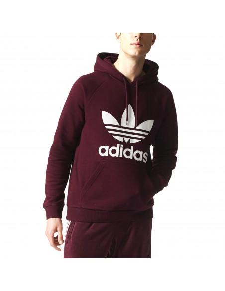 Adidas Originals Mens 3Foil Hoddy Bordeaux BR4177