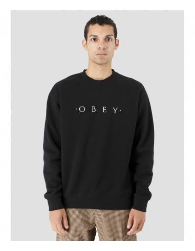 Obey Ανδρικό  Φούτερ  NOUVELLE II CREW / BLACK -112480055