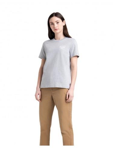Herschel Women's Tee Classic Logo - Grey/White - 40027-00368