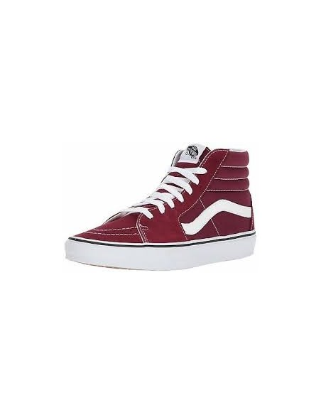 Vans Sk8-Hi Shoes -Burgundy/True White (VN0A38GEQSQ)