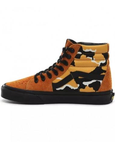 Vans Sk8-Hi Shoes Cordura -(Cordura) Amberglow/Camo/Black (VN0A4BV6XK4)