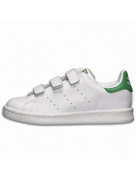 Adidas Stan Smith Kid's Shoes -Whiite/Green (M20607)