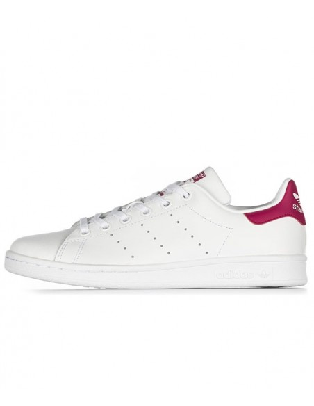 Adidas Stan Smith Shoes -White/Bold Pink (B32703)