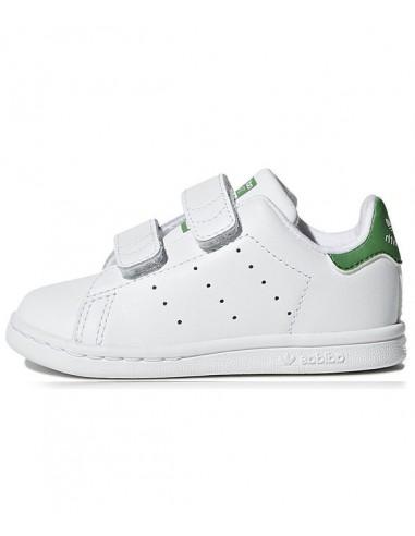 Adidas Stan Smith Kid's Shoes  -White/Green (BZ0520)