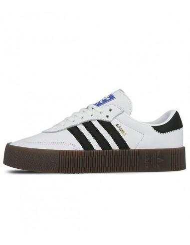 Adidas Originals Sambarose Women's Shoes -White/ Black / Gum5  (AQ1134)
