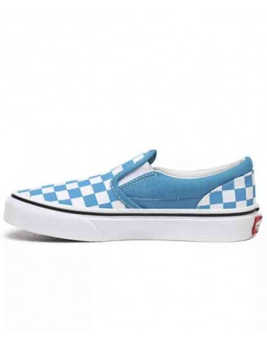 Vans Checkboard Classic Slip-On Women's Shoes Caribbean Sea/True White  ( VN0A4UH8W3V)