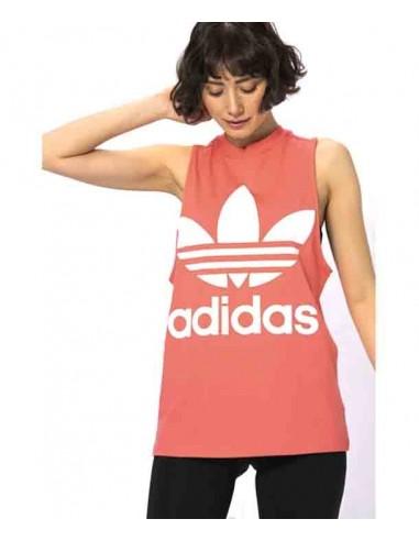 Adidas Originals Womens Trefoil Tank CE5583 Pink