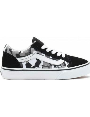 Vans Old Skool J Primary Camo Black/True White - VN0A4UHZ9AI