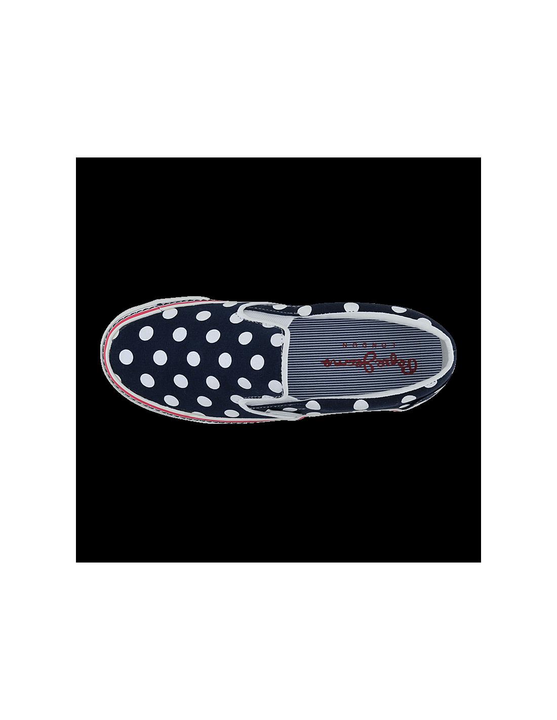 6b838cd8872 ... Pepe Jeans Γυναικεια Sneakers pls30146 Castiello Μπλέ Πουά ...
