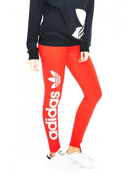 Γυναικεία ADIDAS ORIGINAL Linear Leggings Red AY8108