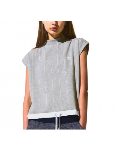 Adidas Originals Womens Hi Neck T-shirt Grey BK6035