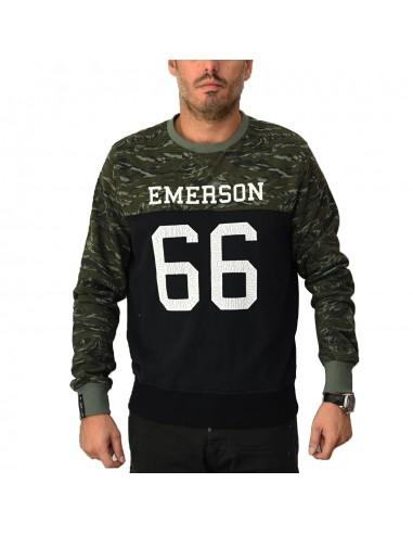 Emerson Mens Hoodie Black/Camo EM20.48