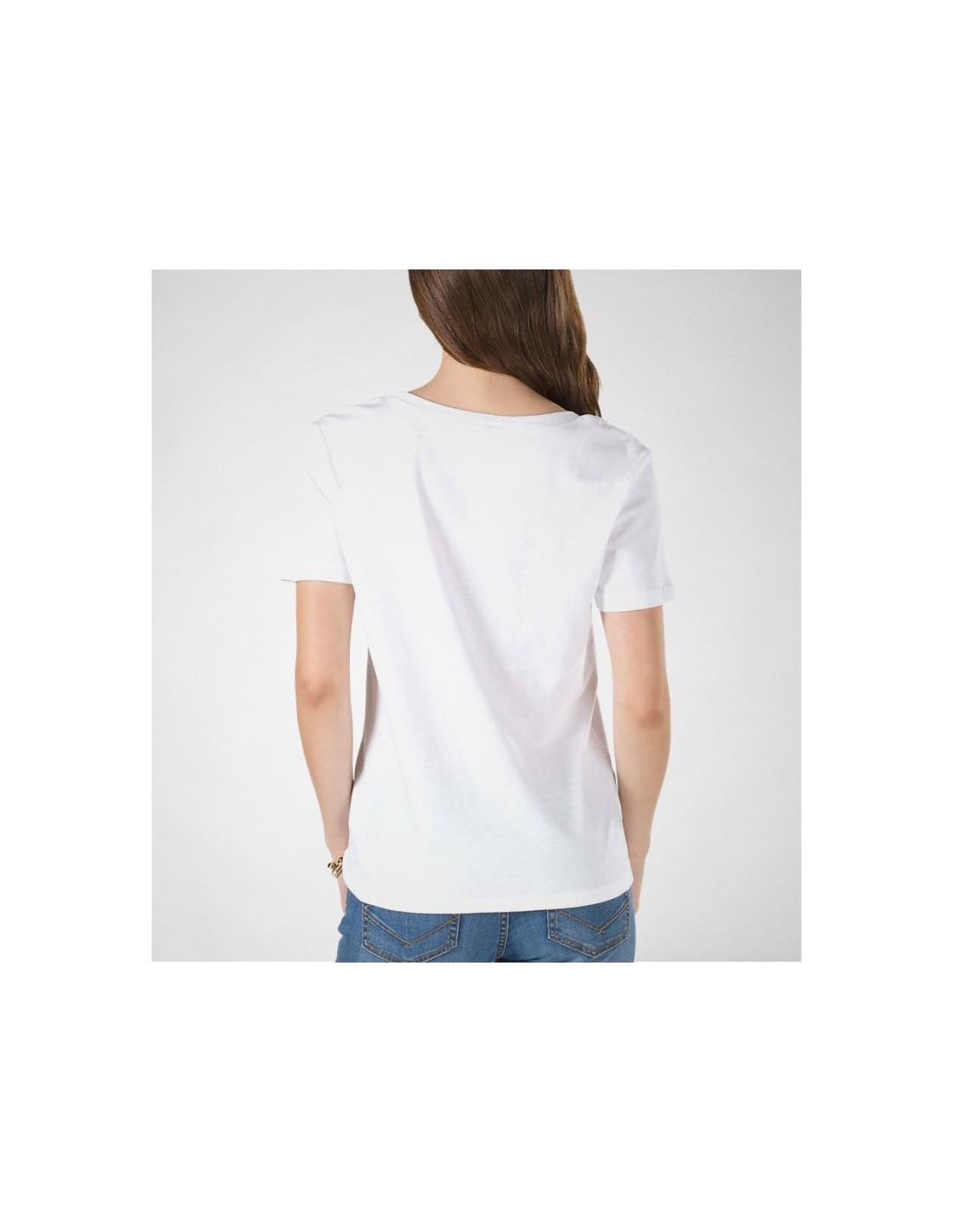 a0d23a2161db Vans γυναικείο κοντομάνικο λευκό t-shirt VA34AYYB2