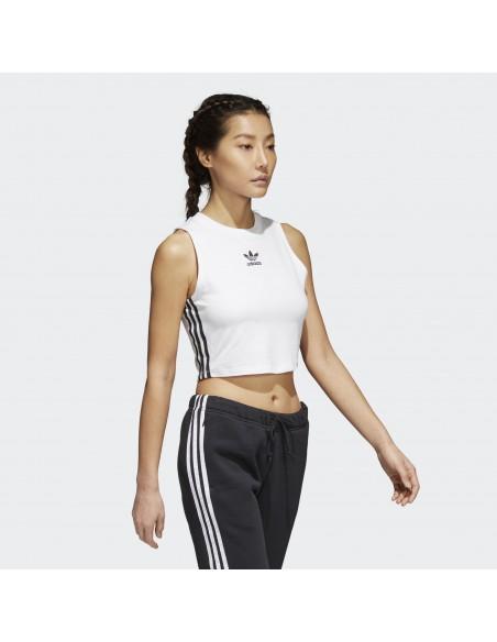Adidas Originals Womens Cropped Top White BJ8191