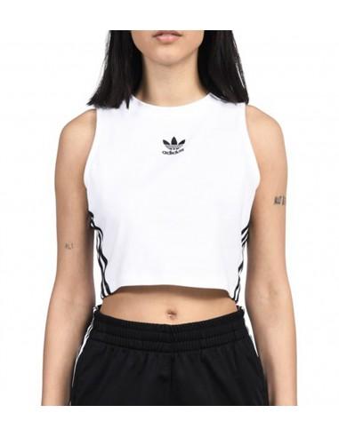 Adidas Original Γυναικείο λευκό τοπάκι μπλουζάκι CY4746 ... a67a4d4e29a