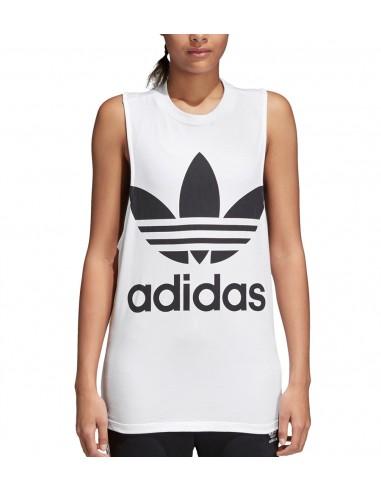 Adidas Originals Womens Trefoil T-shirt White CV9889