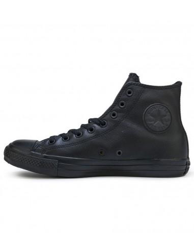 Converse All Star Chuck Taylor Hi Δερμάτινο Μαύρο 153669C