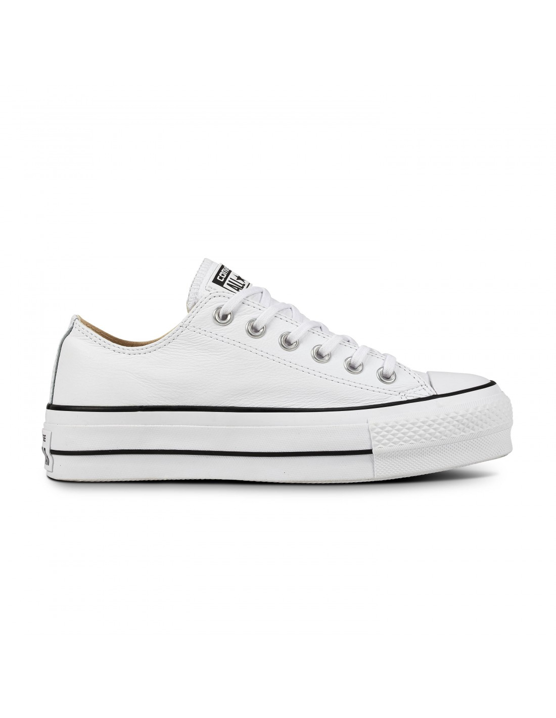 866605f54e2 ... Converse All Star Chuck Taylor Hi Λευκό Leather 136822C ...