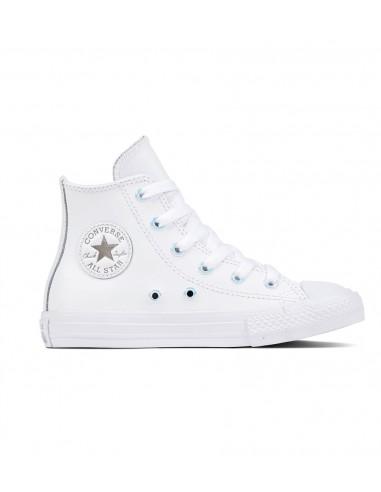 converse all star chuck taylor δερμάτινο μποτάκι Λευκό 661830C ec99e725b87