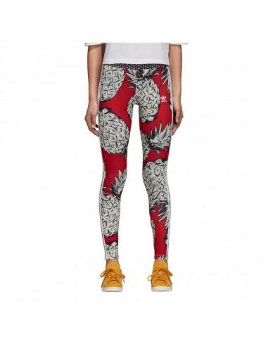 Adidas Originals Womens Linear Leggings Red AY8108