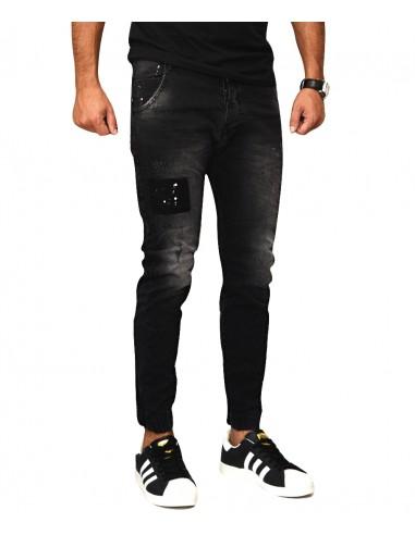 Τζιν Ανδρικό Back 2 Jeans Boyfriend Fit M69 Μαύρο