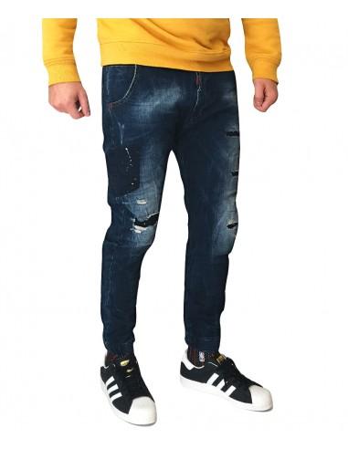 Τζιν Ανδρικό Back 2 Jeans Boyfriend Fit W19A Μπλε