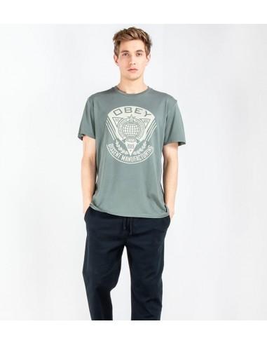 Obey Ανδρικό T-shirt Steel Green  166141921
