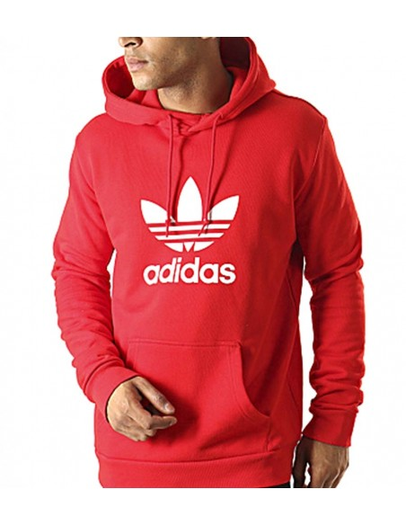 Adidas Originals Trefoil Hoodie Red -EJ9680