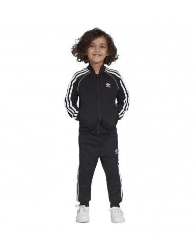 Adidas Originals MensTREFOIL WARM-UP CREW SWEATSHIRT Black  -CW1235